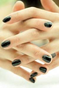 Black nail polish have morphed from the goth trademark it once was into the sign of the sassy sophisticate.  But, may only be worn on the shortest of nails.