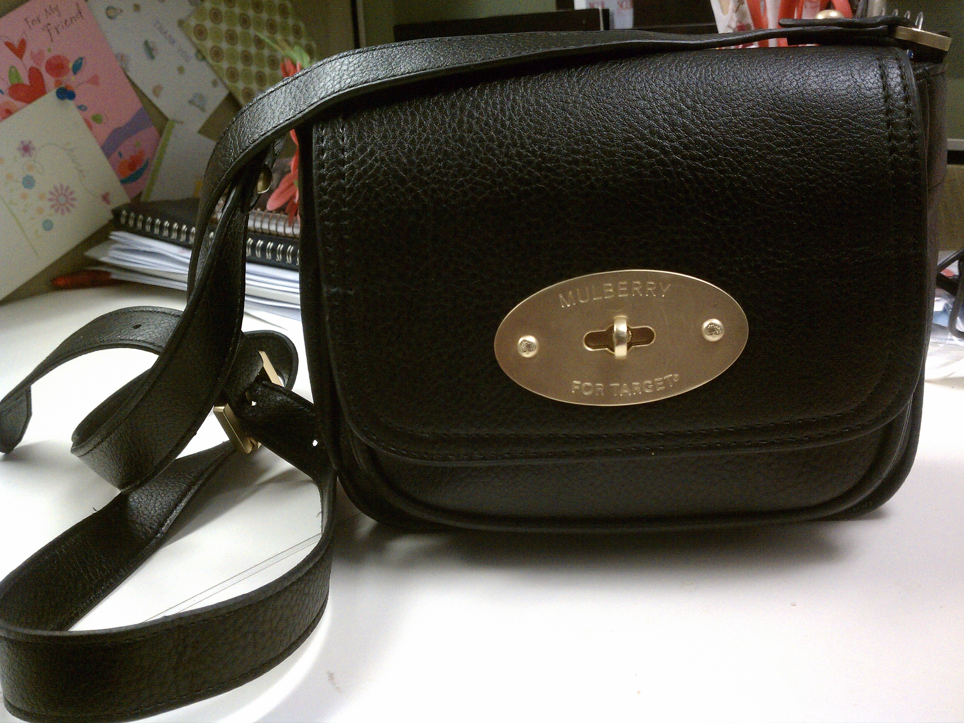 This Mulberry For Target cross-body bag cost me less than  30! 5a379f50ec