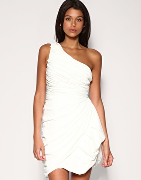 Shoulder Dress on Unique Pleat Grecian One Shoulder Dress  Asos  On Sale For  161 37