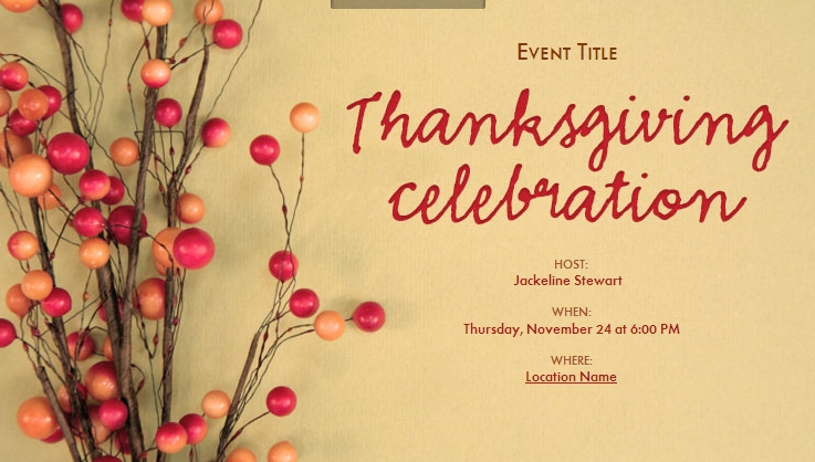 Thanksgiving – Thanksgiving Party Invitation Wording