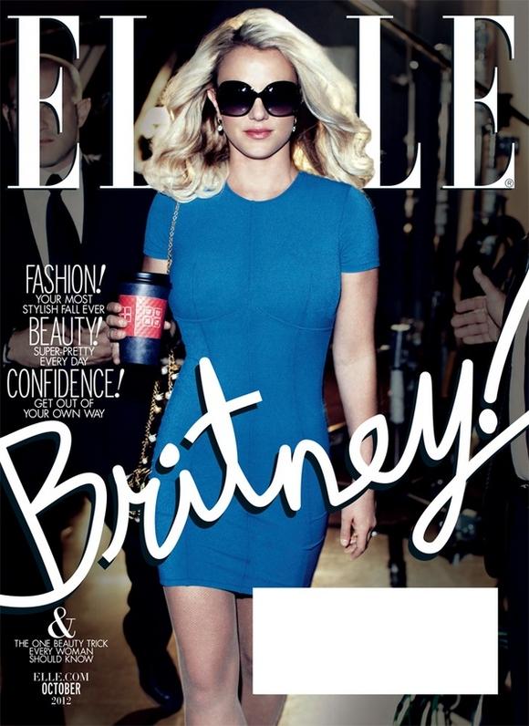 Britney Spears Rocks ELLE Magazine Cover
