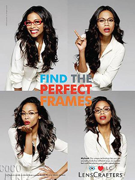 Zoe Saldana for Lenscrafters
