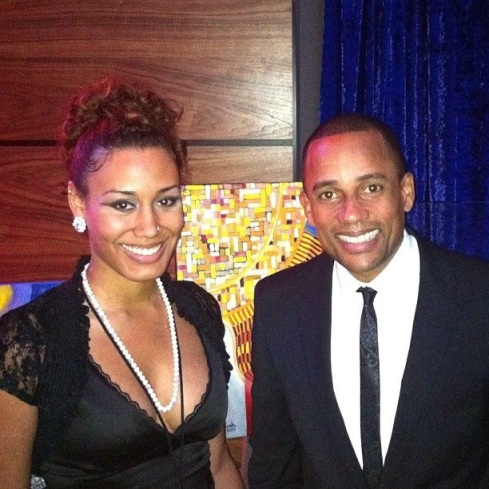 Actor and author Hill Harper admired Stephanie's work at the Inaugural Gala at the Howard Theater.