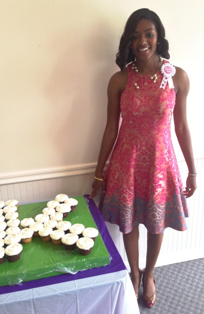 Keosha brought FLOTUS style to her bridal shower.