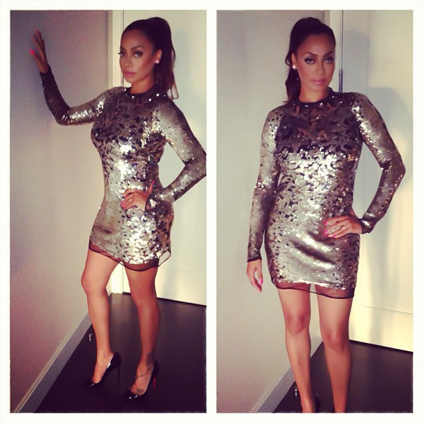 LaLa-Anthony-Silver-Black-Tom-Ford-Sequin-Mini-Dress-GiG-Facebook-event-3
