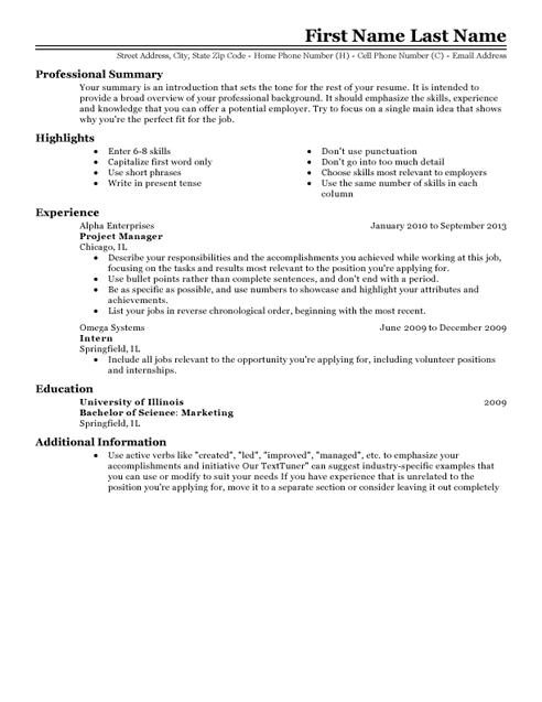 h m resume